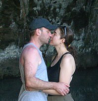 Me and Anthony, kissing in a cave